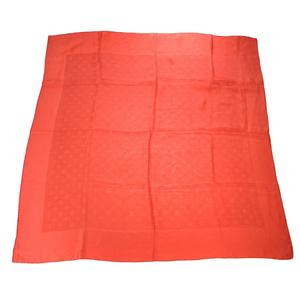 ルイ・ヴィトン(Louis Vuitton) モノグラム シルク スカーフ レッド