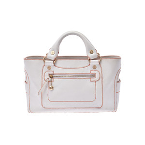 Celine Boogie Leather Bag White