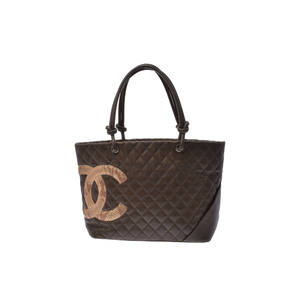 Chanel Ligne Cambon Leather Bag Black