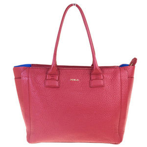 Furla Leather Tote Bag Red