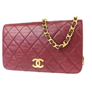 シャネル(Chanel) ココマーク チェーン 2WAY レザー ショルダーバッグ ボルドー