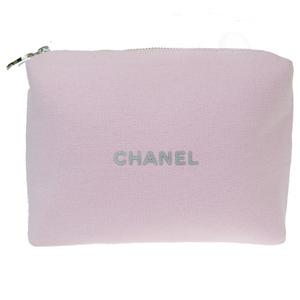 シャネル(Chanel) ココマーク コットン,ポリエステル ポーチ ピンク