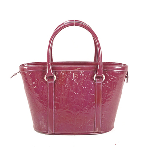 Christian Dior Handbag Women's Patent Leather Handbag Purple
