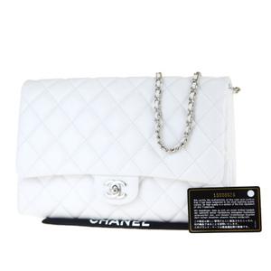 シャネル(Chanel) マトラッセ ココマーク チェーン 2WAY レザー ショルダーバッグ ホワイト