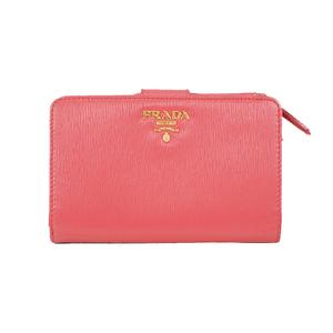 プラダ 二つ折り財布 ピンク