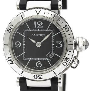 CARTIER Pasha Seatimer Steel Quartz Ladies Watch W3140003