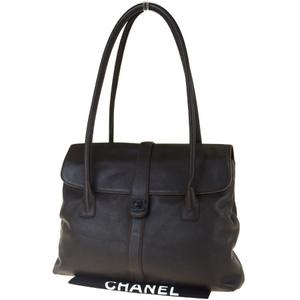 シャネル(Chanel) ココマーク レザー ショルダーバッグ ブラウン