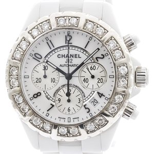 CHANEL J12 Chronograph Ceramic Automatic Mens Watch H1007