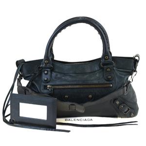 Balenciaga Fast 2WAY Leather Handbag Black