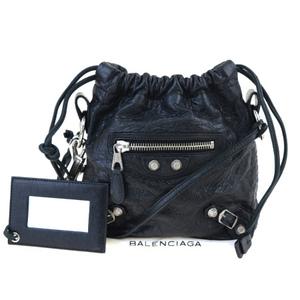 Balenciaga Leather Pochette Black