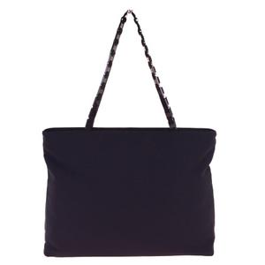 Ferragamo Vala Nylon Shoulder Bag Black