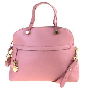 Furla 2WAY Leather Handbag Pink