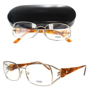 フェンディ(Fendi) F872 眼鏡フレーム べっ甲 ブラウン,シルバー