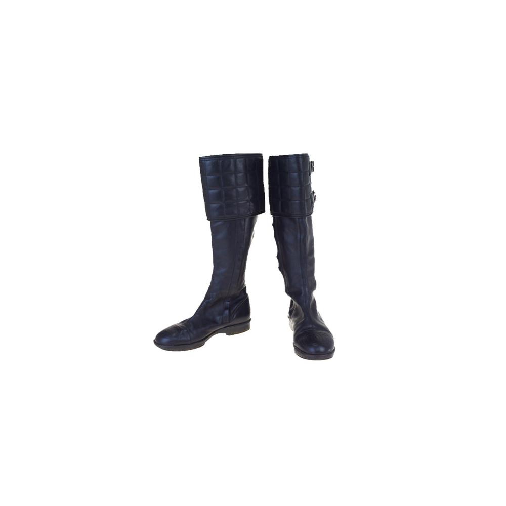 シャネル(Chanel) ブーツ (ブラック) ココマーク チョコバー