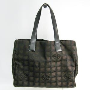 シャネル(Chanel) ニュートラベルライン A15991 レディース レザー,ナイロン トートバッグ ブラウン
