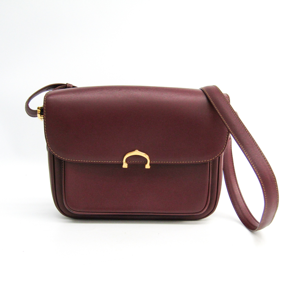 Cartier Must Women S Leather Shoulder Bag Wine Elady