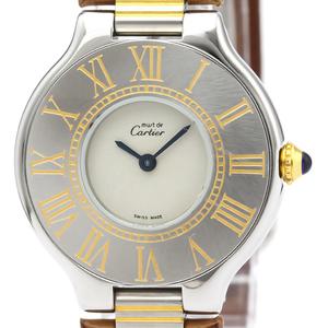 Cartier Must 21 Quartz Stainless Steel,Gold Plated Women's Dress Watch
