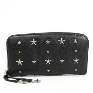 Jimmy Choo FILIPA J000094648001 Women's  Calfskin Studded Long Wallet (bi-fold) Black