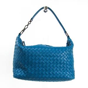 ボッテガ・ヴェネタ(Bottega Veneta) イントレチャート 239988 レザー ハンドバッグ ブルー