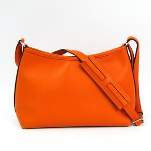 エルメス(Hermes) ベルランゴ レディース エプソン ショルダーバッグ オレンジ