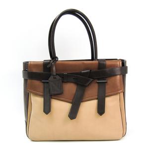 Reed Krakoff 20314 Leather Tote Bag Beige,Brown