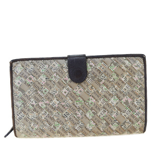 ボッテガ・ヴェネタ(Bottega Veneta) イントレチャート レザー 長財布(二つ折り) ブラウン
