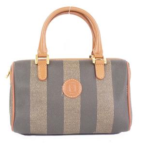 Fendi Pequin Women's Leather/PVC Handbag/Pouch Black