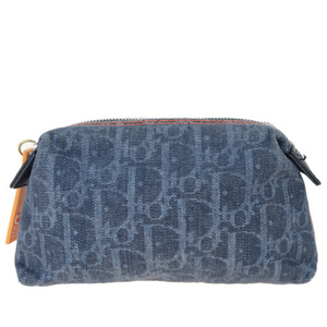 Christian Dior Trotter Canvas Pouch Navy