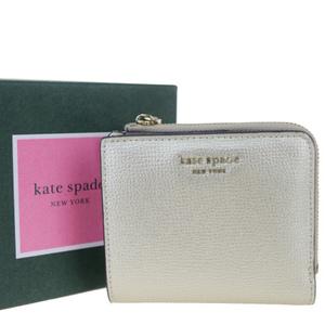 ケイト・スペード(Kate Spade) PWRU7250 レザー 財布(二つ折り) ゴールド