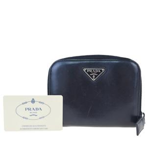プラダ(Prada) レザー 財布(二つ折り) ブラック