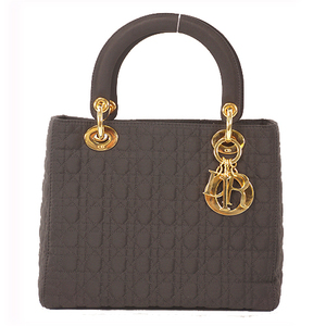 Christian Dior Lady Dior Women's Cotton Handbag Black