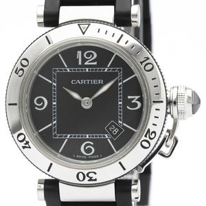 【CARTIER】カルティエ パシャ シータイマー ステンレススチール ラバー クォーツ レディース 時計 W3140003