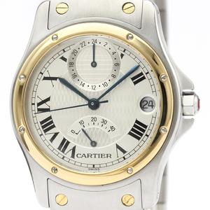 カルティエ(Cartier) サントス ロンド 自動巻き ステンレススチール(SS),K18イエローゴールド(K18YG) メンズ ドレスウォッチ W20038R3