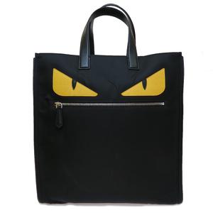 Auth Fendi 7VA245 168-3355 Monster Nylon Tote Bag Black