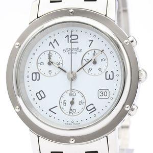 【HERMES】エルメス クリッパー クロノグラフ ステンレススチール クォーツ メンズ 時計 CL1.910