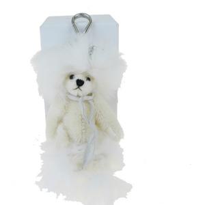 プラダ(Prada) クマ ラインストーン キーホルダー (ホワイト)