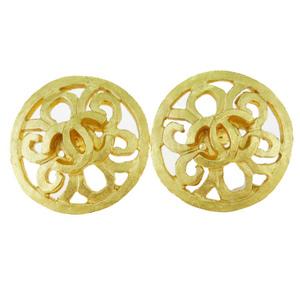 シャネル(Chanel) ココマーク 95P メタル クリップイヤリング ゴールド