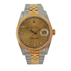 Rolex Datejust Automatic Stainless Steel,Yellow Gold Men's Watch 16233G