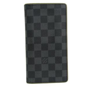 ルイ・ヴィトン(Louis Vuitton) ダミエ・グラフィット ポルトフォイユ ブラザ N63269 メンズ ダミエグラフィット 長財布(二つ折り) カーキ