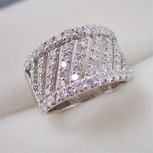 リング 指輪 Pt900 プラチナ  ダイヤモンド ダイヤ パヴェ 1.50ct 11号