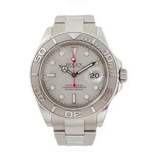 Auth Rolex Yacht-Master Automatic Platinum,Stainless Steel Men's Watch 16622
