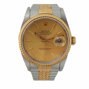 Auth Rolex Day-Date Automatic Stainless Steel,Yellow Gold Men's Watch 16233