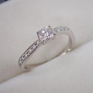 リング 指輪 Pt900 プラチナ ダイヤモンド ダイヤ パヴェ 0.358ct・0.10ct 10.5号 ハート&キューピッド