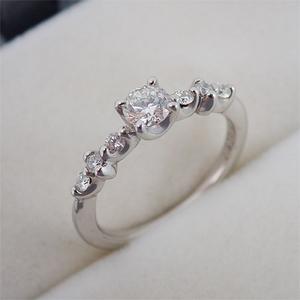 リング 指輪 Pt900 プラチナ ダイヤモンド ダイヤ 0.300ct 0.150ct 8.5号