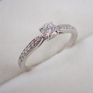 リング 指輪 Pt900 プラチナ ダイヤモンド ダイヤ 0.309ct・0.10ct 11号