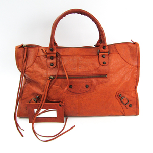 Balenciaga The Work 132110 Unisex Leather Handbag Brown