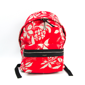 Saint Laurent Unisex Canvas Backpack Red
