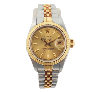 ROLEX Datejust Automatic Stainless Steel Yellow Gold WoMens Watch 69173