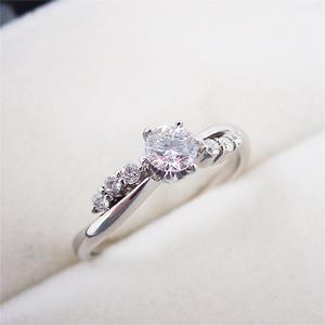 リング 指輪 Pt900 プラチナ ダイヤモンド ダイヤ パヴェ 0.10ct 11号