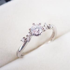 リング 指輪 Pt900 プラチナ ダイヤモンド ダイヤ パヴェ 0.316ct 11号